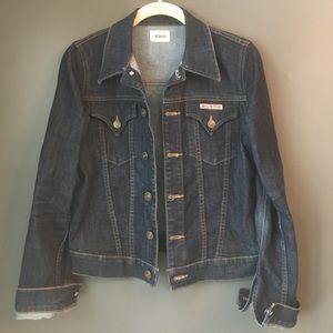 Hudson Signature Jean Jacket Dark Denim Sz S